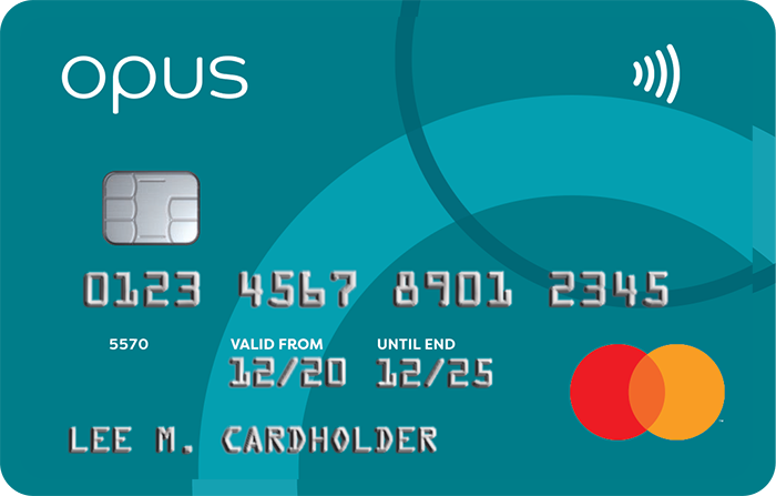 Picture of the Opus Credit Card